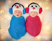 Newborn Baby Photo Prop Snowman