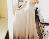 Simply A-line Chiffon  Wedding skirt-soft white- reserved