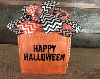 Halloween Glass Block, Glass Block, Halloween Decor, Glass Block, Glass Block with Lights