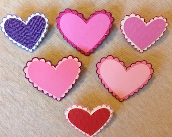 Assorted heart pins