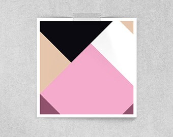 Abstract Geometry: Mars University Graduate in Pink, Black and White // Animation Inspired Amy Wong Character Portrait