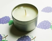 Grape Scented Candle - Vegan Candle - Homemade Candles - Natural Candles - Tin Candle - Container Candle