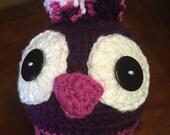 Penguin Purple/Pink Crochet Hat