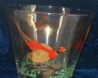Hazel Atlas pheasant ice bowl red,gold and green