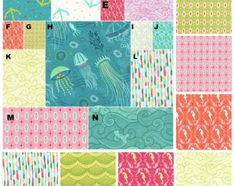 Baby Crib Bedding, Girl, Toddler Bedding, Ocean, Sea Horse, Into The Deep,  Crib Skirt, Fitted Sheet, Changing Pad Cover, Bumper Pads,