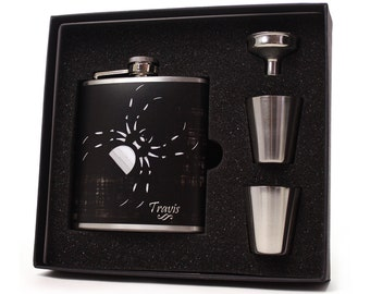 Personalized flask // Spider flask gift set