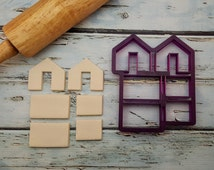 Mini Gingerbread House Mug Hanger  Cookie Cutter and Fondant Cutter and Clay Cutter