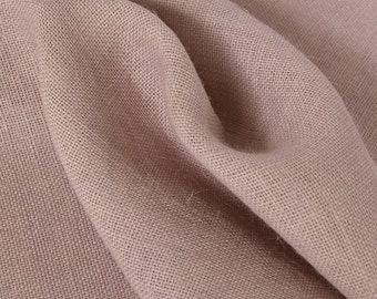 Burlap Fabric / Rustic Lilac / Sold by the Yard
