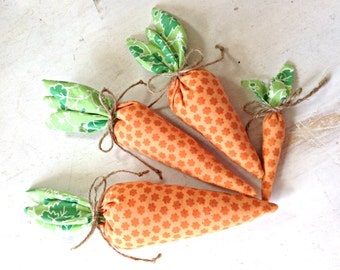 Easter Carrots, Easter Bunny Carrots, Easter Basket Decoration, Easter Decor, Fabric carrots, Spring decoration, Easter Bowl Basket Filler