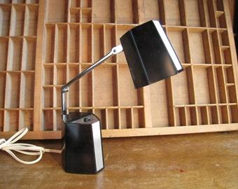 Vintage Modern Desk Lamp Black Mid Century Task Lamp Adjustable Small Work Light