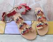 Bohemian sandals! Gladiator sandals!Boho gladiators/Pocahontas sandals