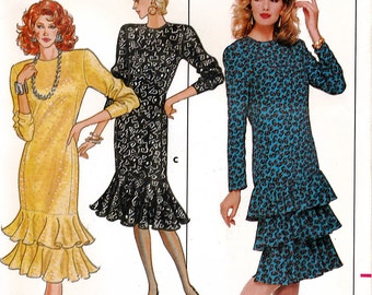 Butterick 5717 Sewing Pattern for Misses' Dress - Uncut - Size 6, 8, 10