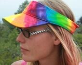 Tie dye Rainbow visor