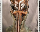 RESERVED for HANS-RUEDI - Steampunk leather mask - Wild Plague Doctor - Pestarzt -