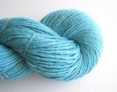 Aran Weight Merino Cashmere Blend Recycled Yarn, Aqua, 230 Yards, Lot 090116
