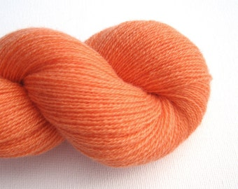 Lace Weight Recycled Cashmere Yarn, Melon Orange, Lot 141015