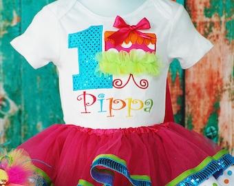 1st Birthday Cake smash tutu set - Princess birthday tutu - First Birthday - cupcake - Birthday Shirt - Baby Girl birthday