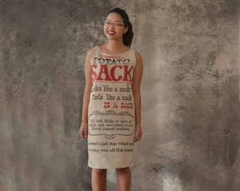 Potato Sack Dress size M