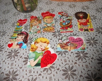 Vintage 1950s Mixed Lot Valentine Cards