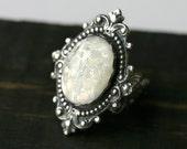 Snow White Opal Ring