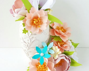 Cake Flowers - Cake Decoration - Paper Flowers - Made To Order - Custom Colors Available