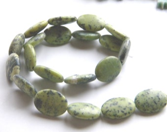 Natural Chrysophrase Beads Strand 20x15mm Oval