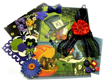 Graphic 45 Halloween in Wonderland Inspiration Kit, Paper Embellishment Kit for Scrapbook Layouts Cards Mini Albums and Paper crafts 1