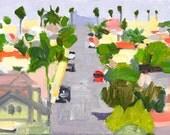 North Park Panorama - San Diego Painting