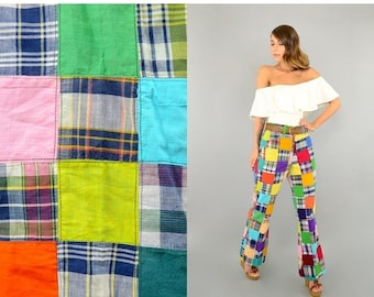 ANNIVERSARY SALE 70's Multicolored PATCHWORK Pants