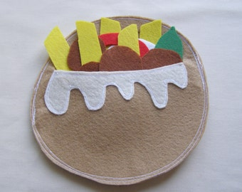 Making Falafel -Quiet Book Page / Quiet Book / Cloth Activity Book / Birthday Gift For Toddler / Learning Book / Childrens Book /Felt Book