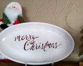 Merry Christmas platter host hostess gift
