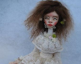 Odri Art Doll Clay doll Clay art doll OOAK doll Polymer clay doll Collecting doll Hand made doll Decorative doll