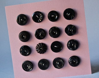 Vintage Buttons in Dark Chocolate Brown for Sewing and Crafts