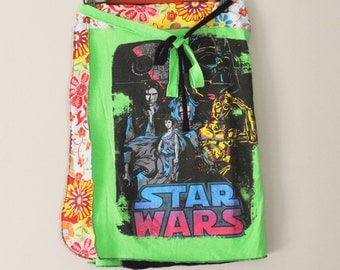 Upcycled T Shirt Wrap Skirt/STAR WARS Novelty Wrap/ Womens Skirt