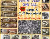 SUMMER SALE Rings and Cuff Bracelets