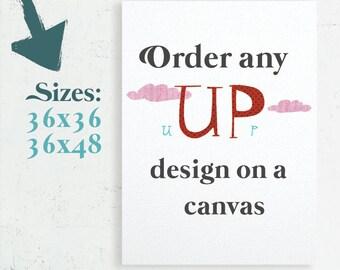 Canvas Art, Home Decor, Nursery Canvas, Bedroom Decor, Canvas gift, Gallery Wrap Canvas, 36x36 canvas, 36x48 canvas, large canas