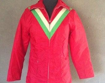 60% OFF Vintage 1970s Sportsguide Red White Green Ski Jacket M
