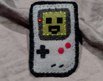 CLEARANCE SALE Happy little game boy badge/hair clip
