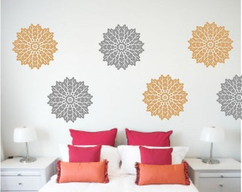 Floral Wall Decals, Abstract Decal, Living Room Decor, Girls Room Decal, Nursery wall decal, Flower Wall Art, Apartment Decor, Floral blooms