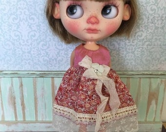 Blythe Dress - Silk with Flowers