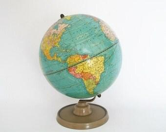 Vintage Globe - 1948 Crams Terrestrial - Scarce 9 inch