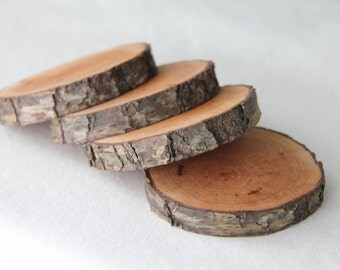 small cherry branch coasters - set of 4