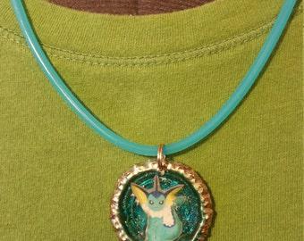 Vaporeon Bottlecap Pendant Necklace