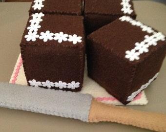 Felt Chocolate Cake set