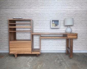 Custom Desk - Walnut - Zebra Wood