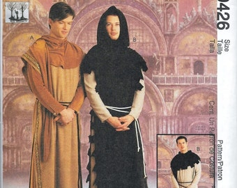 McCall's 9426 Medieval Renaissance Gothic LOTR Men's Costume Sewing Pattern Size Large and Xlarge UNCUT