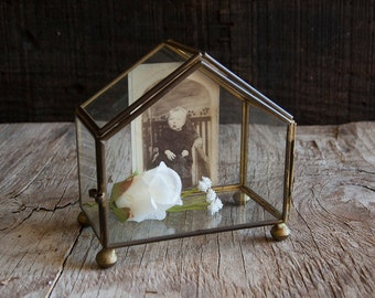 Vintage Glass Curio Box