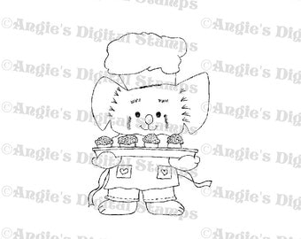 Muffin Man Animal Digital Stamp Image
