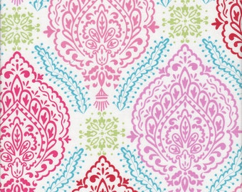 Dena Fishbein Design's - LITTLE AZALEA - Delphine - Red - Cotton Fabric - 1 yard