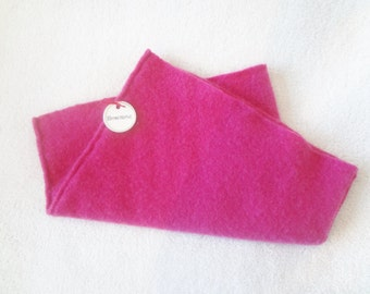 BRIGHT PINK Cashmere Cowl Pink Neck Warmer Gaiter Cashmere Neckwarmer Upcycled Cashmere Sweater Eco Fashion Winter Accessories by WormeWoole